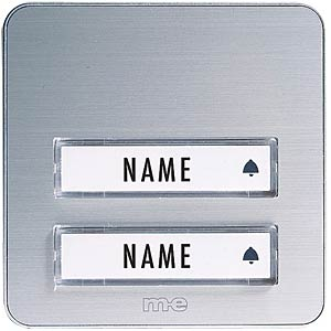 Aufputz-Klingeltaster, 2-reihig, Alu M-E KTA-2AS