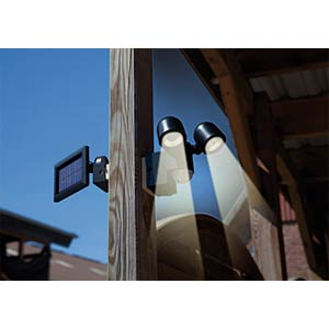 Solar LED spotlight, Duo LPL with motion detector GEV 000841