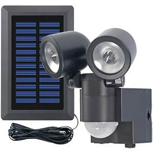 Solar LED spotlight, Duo LPL with motion detector GEV 000858