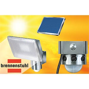 LED solar spotlight with motion detector, alu BRENNENSTUHL 1170840