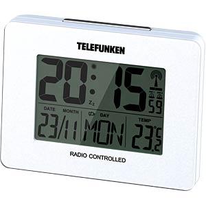 LCD Funkwecker, weiß TELEFUNKEN FUD-40-W