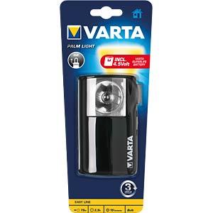 Halogen-Handlampe Palm Light, 15 lm, schwarz, 1x 4,5 V VARTA 16645101421