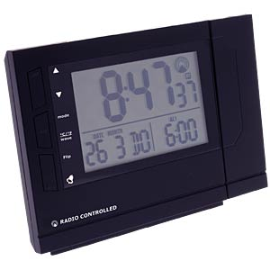 Radio alarm clock with thermometer and projection VENTUS W018
