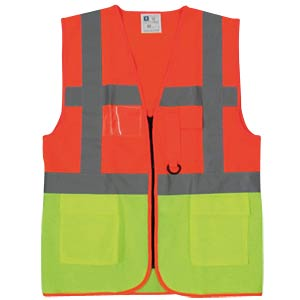 Warnweste, Sao Paulo, 3XL, orange/gelb K-EQUIPMENT 356438