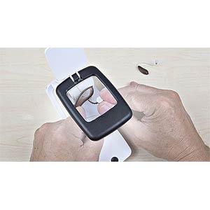 Pocket desktop magnifying glass with LED light WEDO 271 75101
