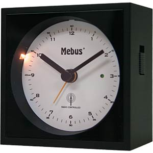 Analogue radio alarm clock with crescendo alarm MEBUS 25410