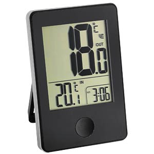 Wireless thermometer, black TFA DOSTMANN 30.3051.01