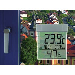Vision-Hygro Digitales Fensterthermometer TFA DOSTMANN 30.5020