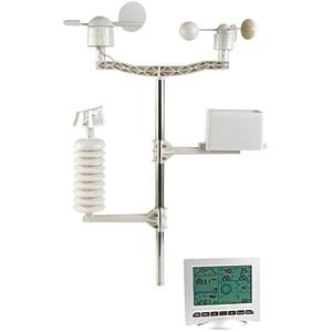 Radio-controlled weather station with solar transmitter and USB VELLEMAN WS3080
