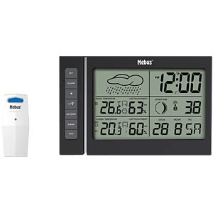 Radio controlled weather station with forecast MEBUS 40345