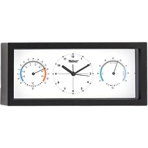 Quartz Clock with Thermometer and Hygrometer MEBUS 40370