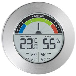 Thermometer/hygrometer with comfort display MEBUS 40372