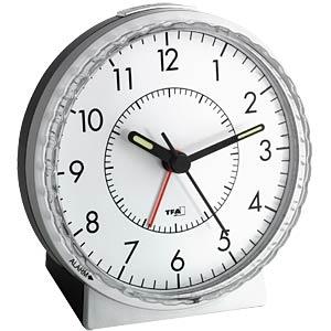 Electronic analogue alarm clock, easily adjustable TFA DOSTMANN 60.1010