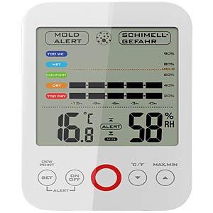 Thermometer / Hygrometer mit Schimmelalarm MEBUS 40585