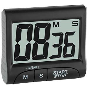 Electronic timer and stopwatch, black TFA DOSTMANN 38.2021.01