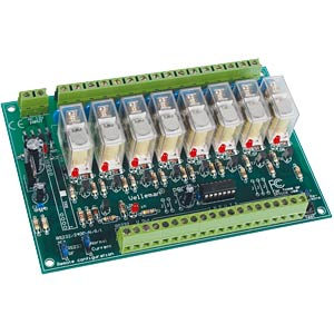 Kit: remote-controlled 8-channel relay card VELLEMAN K8056
