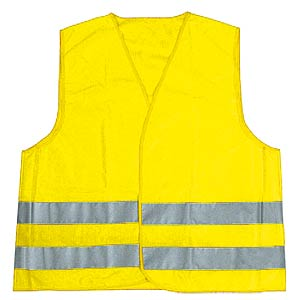 Child's high-visibility vest, XS 3 - 6, yellow, DIN EN 1150 FREI