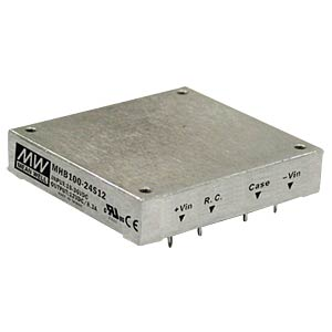 DC/DC-Wandler MHB100, 100 W, 24 V, 4170 mA, Metallgehäuse MEANWELL MHB100-48S24