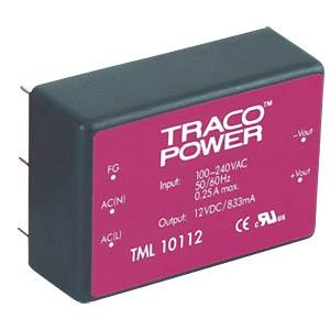 Schaltnetzteil, Open-Frame, 40 W, 5 V, 5 A, 3 Ausgänge TRACO TML 40512