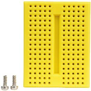 Experimentier-Steckboard, 170 Kontakte, gelb FREI