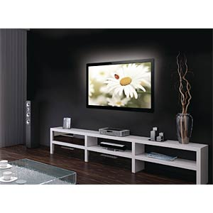 USB TV mood lighting, white, 1 x 90 cm KÖNIG KNM-ML1W
