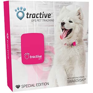 GPS Pet Tracker Crystal Pink Edition TRACTIVE TRAPI1