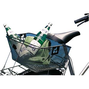 Rear bicycle basket, black, fine mesh FILMER 46333