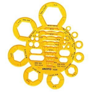 Abrundungs- und Mutternschablone ARISTO AR 5025
