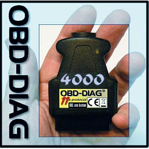 Car diagnosis system OBDII with USB connection FREI