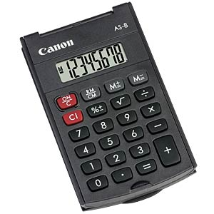 Calculator, black CANON 4598B001AB