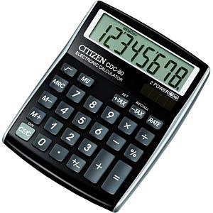 Tischrechner, schwarz CITIZEN SYSTEMS CDC-80 BK