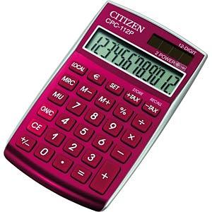 Taschenrechner, rot CITIZEN SYSTEMS CPC-112 RD