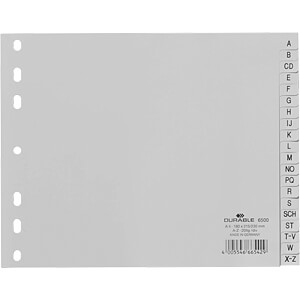 Kunststoffregister A4 Quer (A-Z) DURABLE 650010