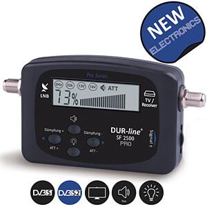 Pegelmessgerät, Satmessgerät, LCD Anzeige DUR-LINE 100527