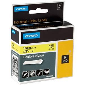 DYMO IND Nylon, 12mm, schwarz/gelb DYMO 18490