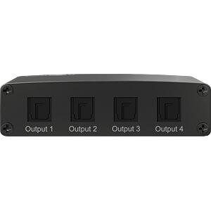 Toslink Audio Splitter, 1in/4out GOOBAY 58975