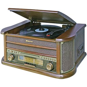 Wood Retro Style FM-Radio ROADSTAR HIF-1990BT