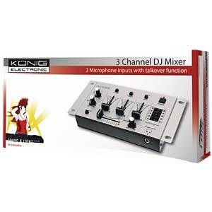 3-Kanal DJ Mixer Basic KÖNIG KN-DJMIXER10