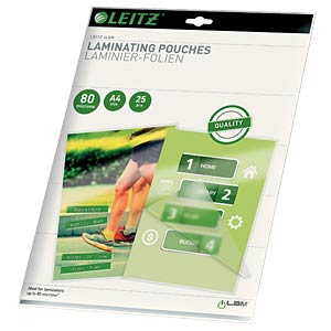Hot-laminating pouch, DIN A4, 25 pieces LEITZ 16917