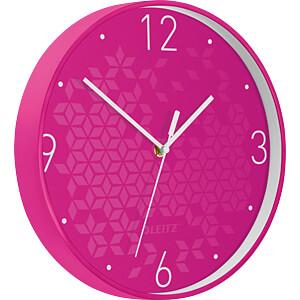 LEITZ 90150023 - Wanduhr WOW pink