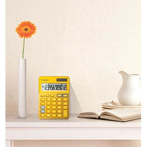 Lifestyle mini desktop calculator, metallic yellow CANON 9490B006AA