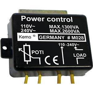 Leistungsregler 110...240V, max. 2600VA KEMO M028