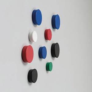 Heftmagnete, rund, 20 mm, schwarz NOBO 1901440