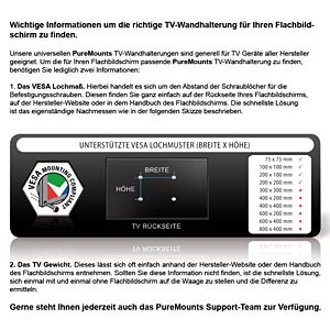 "PureMounts® TV Halterung - EasyFlex-37 - 32-42"" PUREMOUNTS PM-EASYFLEX-37"