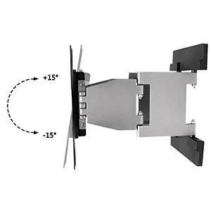 TV Wandhalterung, neigbar, schwenkbar, 17- 37, schwarz/ silber PUREMOUNTS PM-MOTION-37