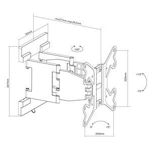 PureMounts® TV Halterung - Thin Motion 23-42 PUREMOUNTS PM-MOTION-37