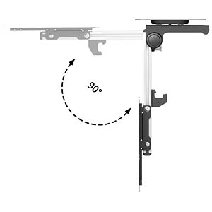 PureMounts® Premium TV Deckenhalterung PUREMOUNTS PM-SLOPE-37