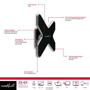TV Wandhalterung, neigbar, schwenkbar, 17- 37, schwarz PUREMOUNTS PM-STYLE-37A