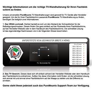 "PureMounts® Monitor Halterung - Style 23-42"" PUREMOUNTS PM-STYLE-37C"