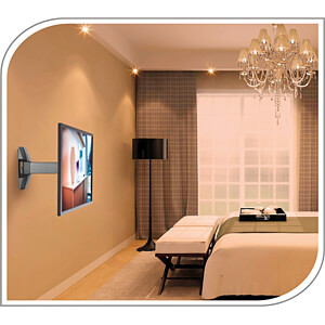 TV-Wandhalterung, neigbar, schwenkbar, 23 - 42, schwarz PUREMOUNTS PM-FM10-200